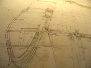Plano antiguo carreteras