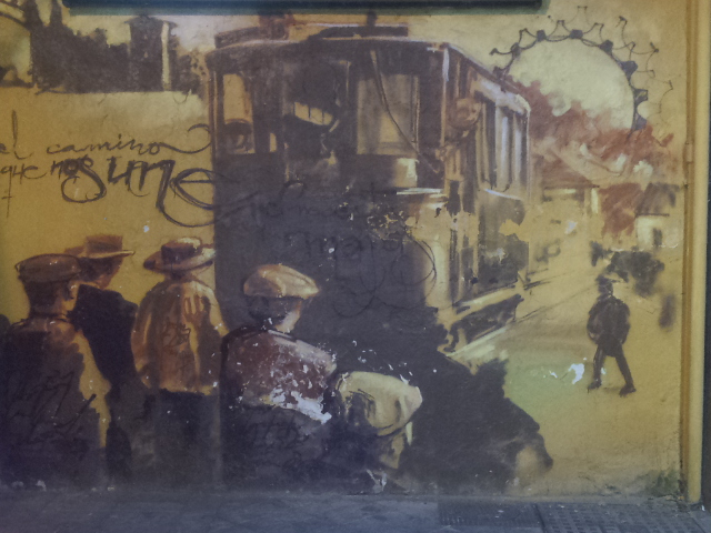 Grafiti de El niño de las pinturas en el barrio El Realejo