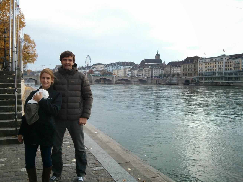 Foto reciente en Basel, donde vivimos en la actualidad